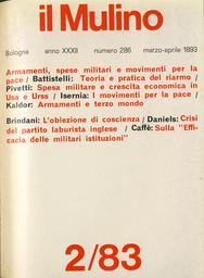 Copertina del fascicolo dell'articolo Un grande economista italiano, Francesco Ferrara, sulla