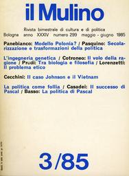 Copertina del fascicolo dell'articolo L'ingegneria genetica tra biologia e filosofia