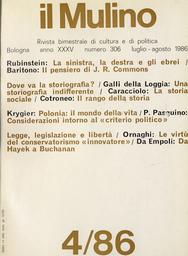 Copertina del fascicolo dell'articolo Libertà e costituzione: da Hayek a Buchanan