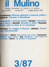 Copertina del fascicolo dell'articolo Un incontro mancato. Braudel e le scienze sociali in Italia