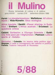 Copertina del fascicolo dell'articolo All'ultimo Rawls. Una nota critica