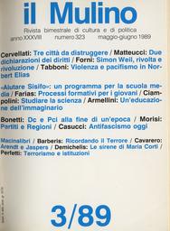 Copertina del fascicolo dell'articolo Terrorismo e istituzioni