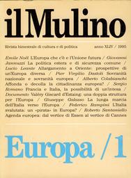 Copertina del fascicolo dell'articolo Documentazione. Una doppia struttura per l'Europa