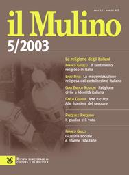 Copertina del fascicolo dell'articolo Il sentimento religioso in Italia