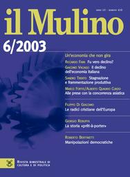 Copertina del fascicolo dell'articolo La storia