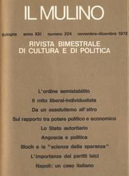 Copertina del fascicolo dell'articolo Angoscia e politica
