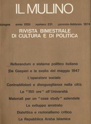 Copertina del fascicolo dell'articolo Dirigenti DC dell'Emilia-Romagna e referendum sul divorzio