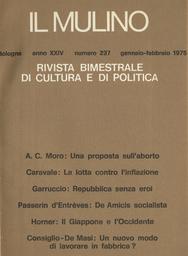 Copertina del fascicolo dell'articolo La lotta contro l'inflazione