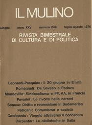 Copertina del fascicolo dell'articolo Esperienza modernista e problemi della Chiesa oggi