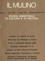Copertina del fascicolo dell'articolo Da Kissinger a Carter