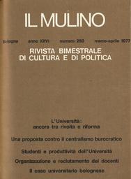 Copertina del fascicolo dell'articolo I mutamenti organizzativi nella comunità accademica italiana: verso un sistema burocratico-patrimoniale?