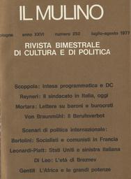 Copertina del fascicolo dell'articolo Tensioni nei partiti e nelle alleanze. I rapporti tra comunisti e socialisti in Francia (1972-1977)