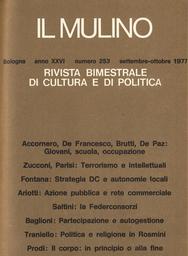 Copertina del fascicolo dell'articolo Un convegno su partecipazione e autogestione