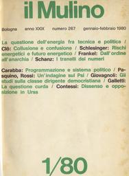 Copertina del fascicolo dell'articolo Programmazione per settori e sistema politico