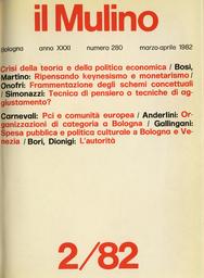 Copertina del fascicolo dell'articolo L'autorità tra consenso e ribellione
